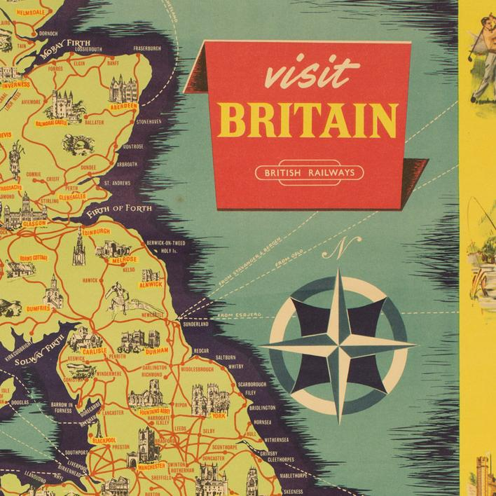 Plakat m reklame for British Rails - vintage
