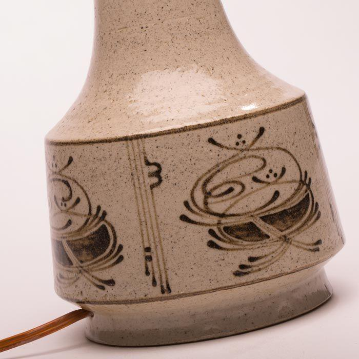 Kähler keramik bordlampe, m signatur | Retrovintage.dk