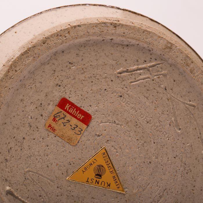 keramik signatur Kähler keramik bordlampe, m signatur | Retrovintage.dk keramik signatur